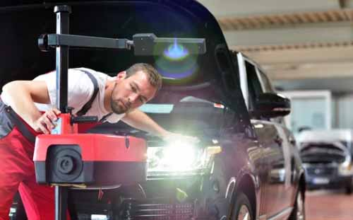 Autó műszaki vizsga, a lámpa ellenőrzése